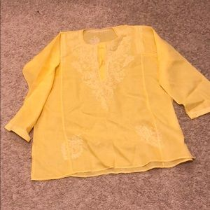 Tops - Cute Yellow Embroidered Top, size L/XL